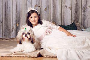 Fotos de comunión con mascota